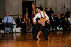 Prima Dancesport's Fadi Khoury and Kathryn Elders performa a Rumba Showdance