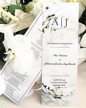 Elicit wedding stationery design