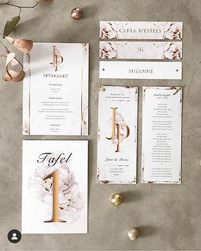 Wedding stationery flatlay