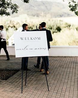 Wedding stationery signage