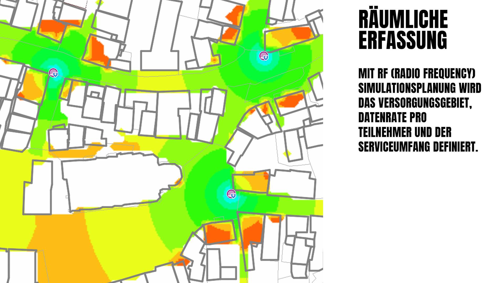 RF Simulationsplanung WLAN Strassenbeleuchtung Bayernwerk