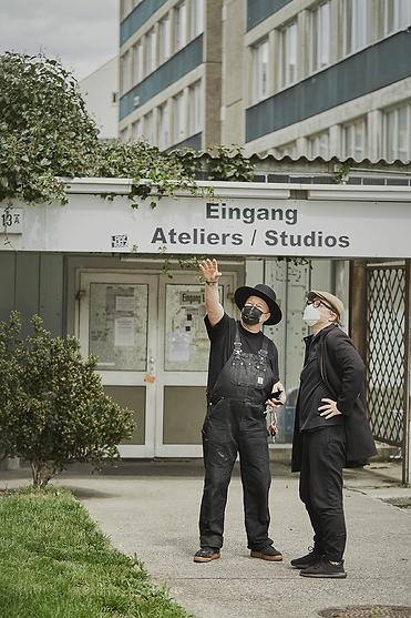Jetoshi-and-curator-Denis-Leo-Hegic-Unblock-Berlin-fair-artfair.png