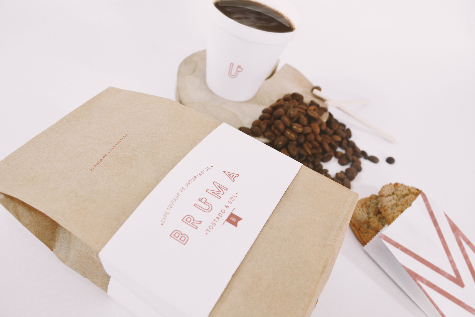 08 Coffee Bag and Cup Mockup Perspective