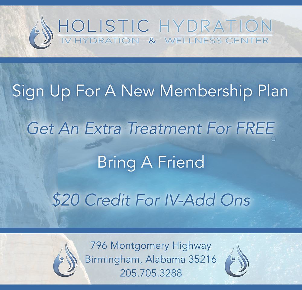 Ad containing free member IV treatment text