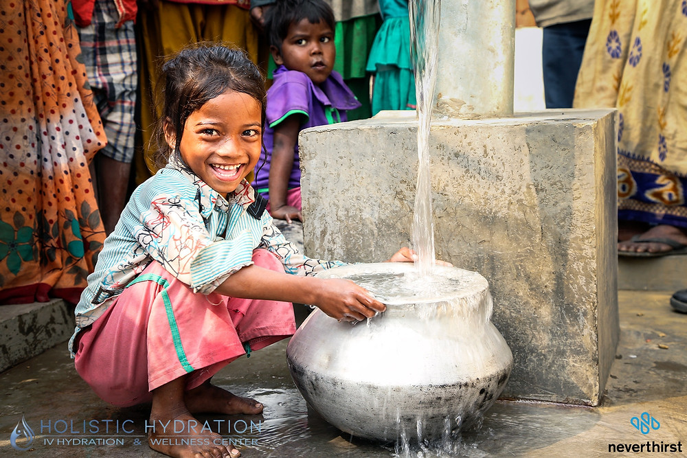 Beautiful Child + clean water