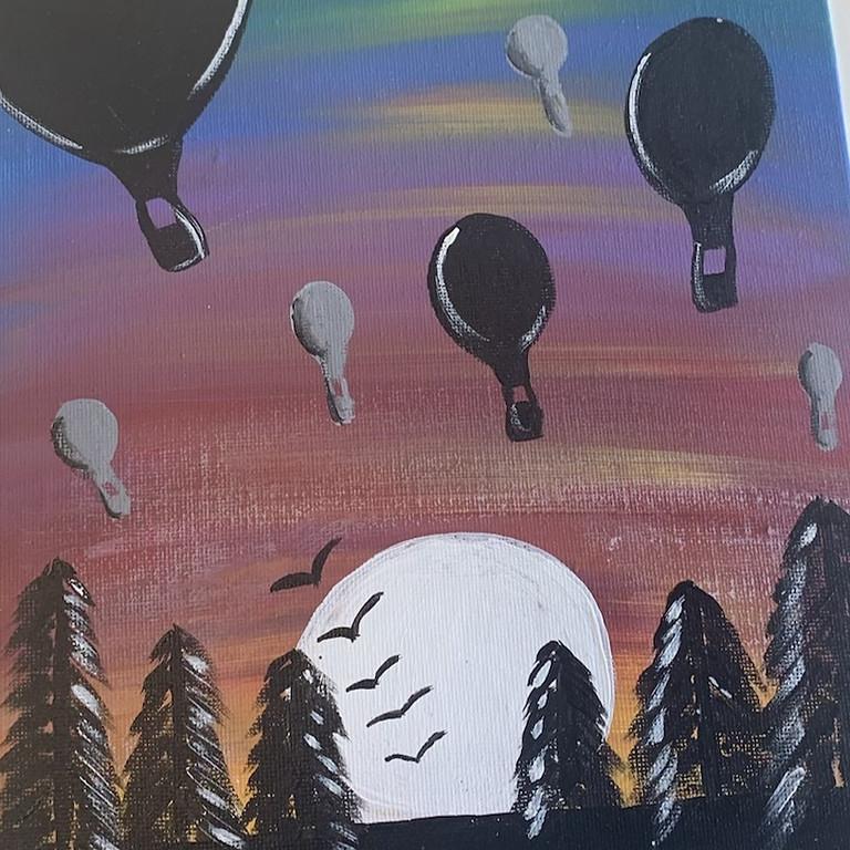 Hot Air Balloon Sunset