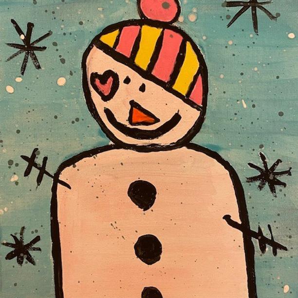 Family Friday: Heart Snowman