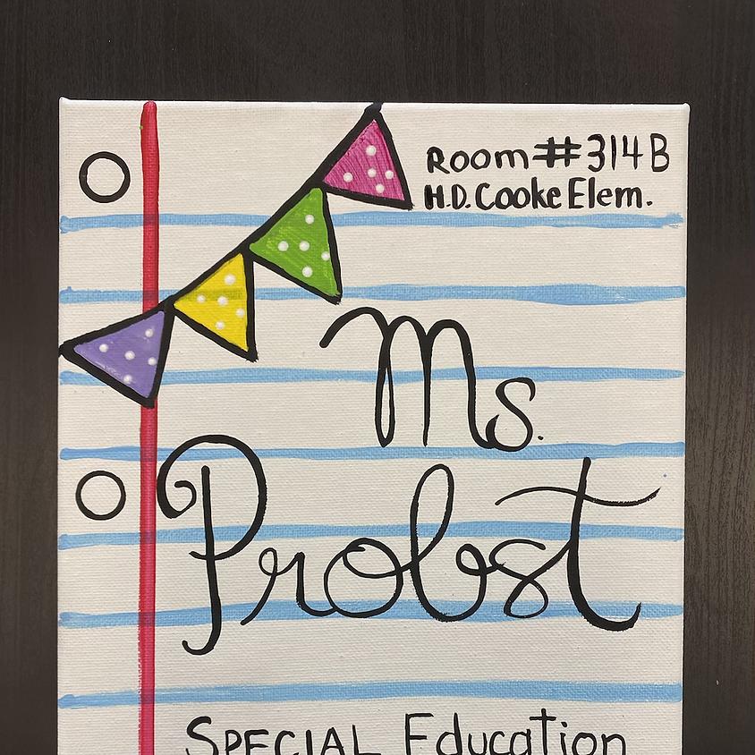 Teacher Mix & Mingle: Door Sign Painting