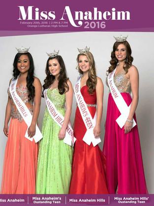 2016 Miss Anaheim Program Book