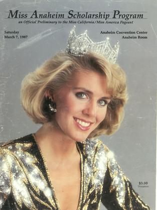 1987 Miss Anaheim Program Book
