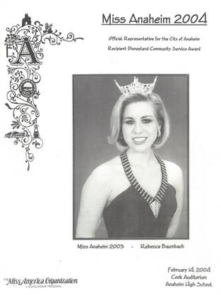 2004 Miss Anaheim Program Book