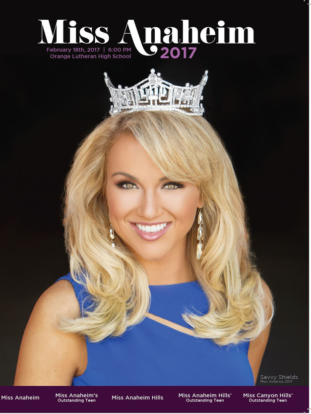 2017 Miss Anaheim Program Book