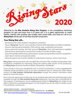 2020 Rising Star Program Intro Red