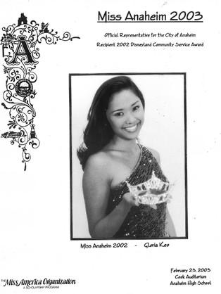 2003 Miss Anaheim Program Book