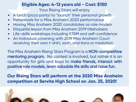 Taking Applications for Rising Stars!