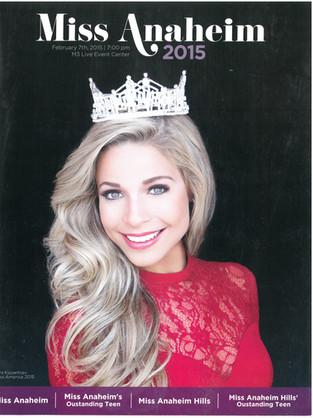 2015 Miss Anaheim Program Book