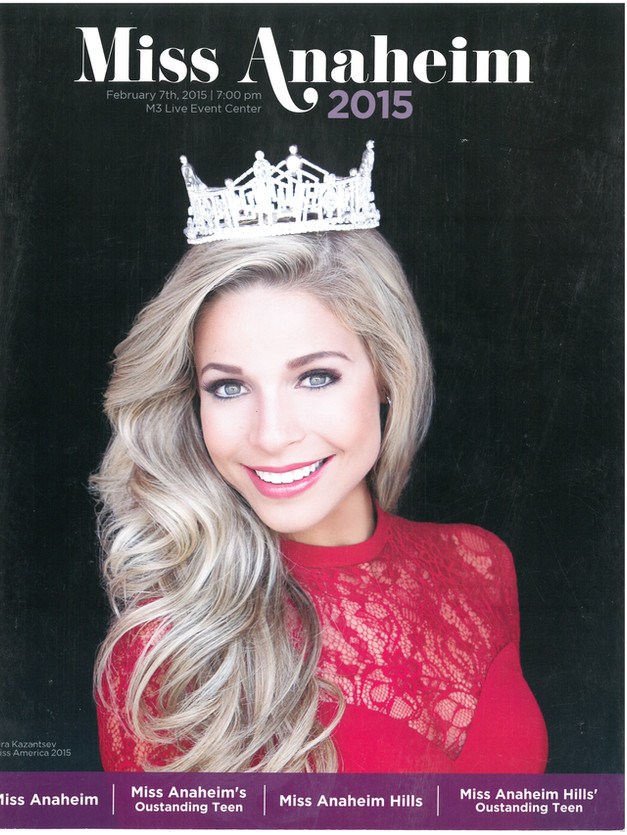 2015 Miss Anaheim Program Book