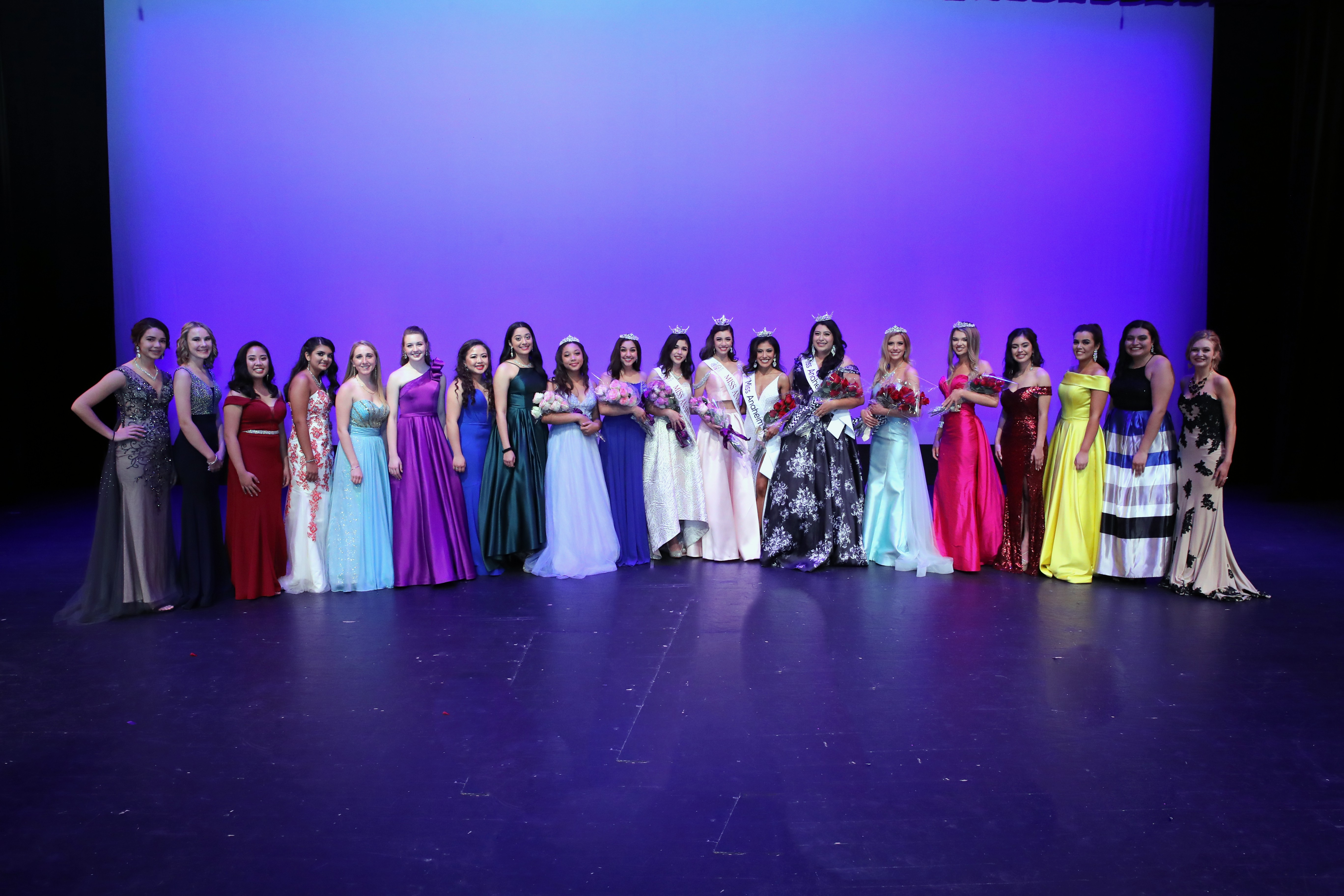 MISS ANAHEIM Contestants and Court 2019