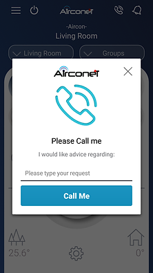 Air Condition control smartphone, App for air condition, Alexa air condition