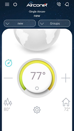 Hotel thermostat with motion sensor