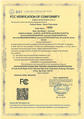 Airconet FCC certificate
