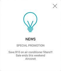 get notificationon wifi smart control