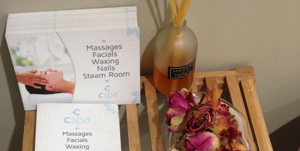 MENU | Massage Treatment | South Brisbane | Cspa