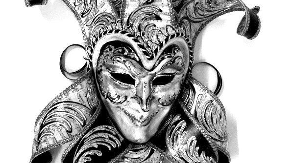 Jocker Jolly Bavero grande carta musica nero argento