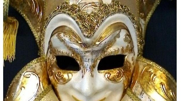 Jocker Jolly Bavero grande decoro foglia oro e musica