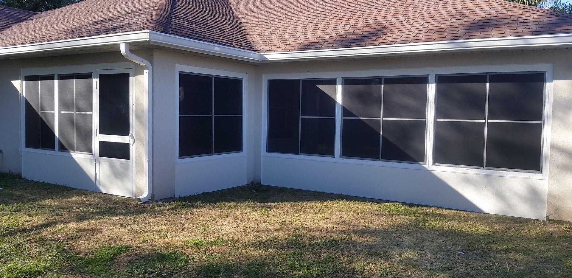 Enclosed lanai with windows