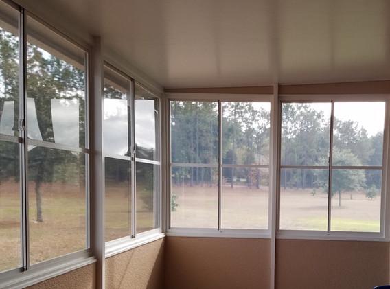 Indoor sunroom view
