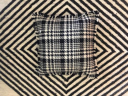 Black Pepita cushion