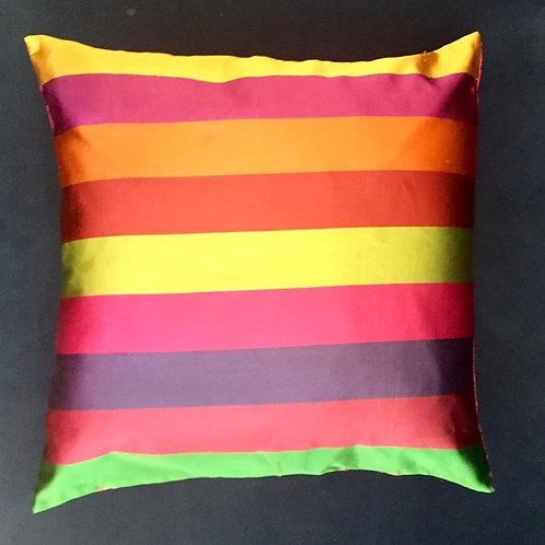 Colored striped cushion