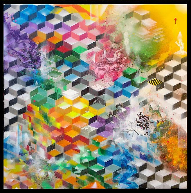"""just"" spray on canvas 100 x 100cm 2020"