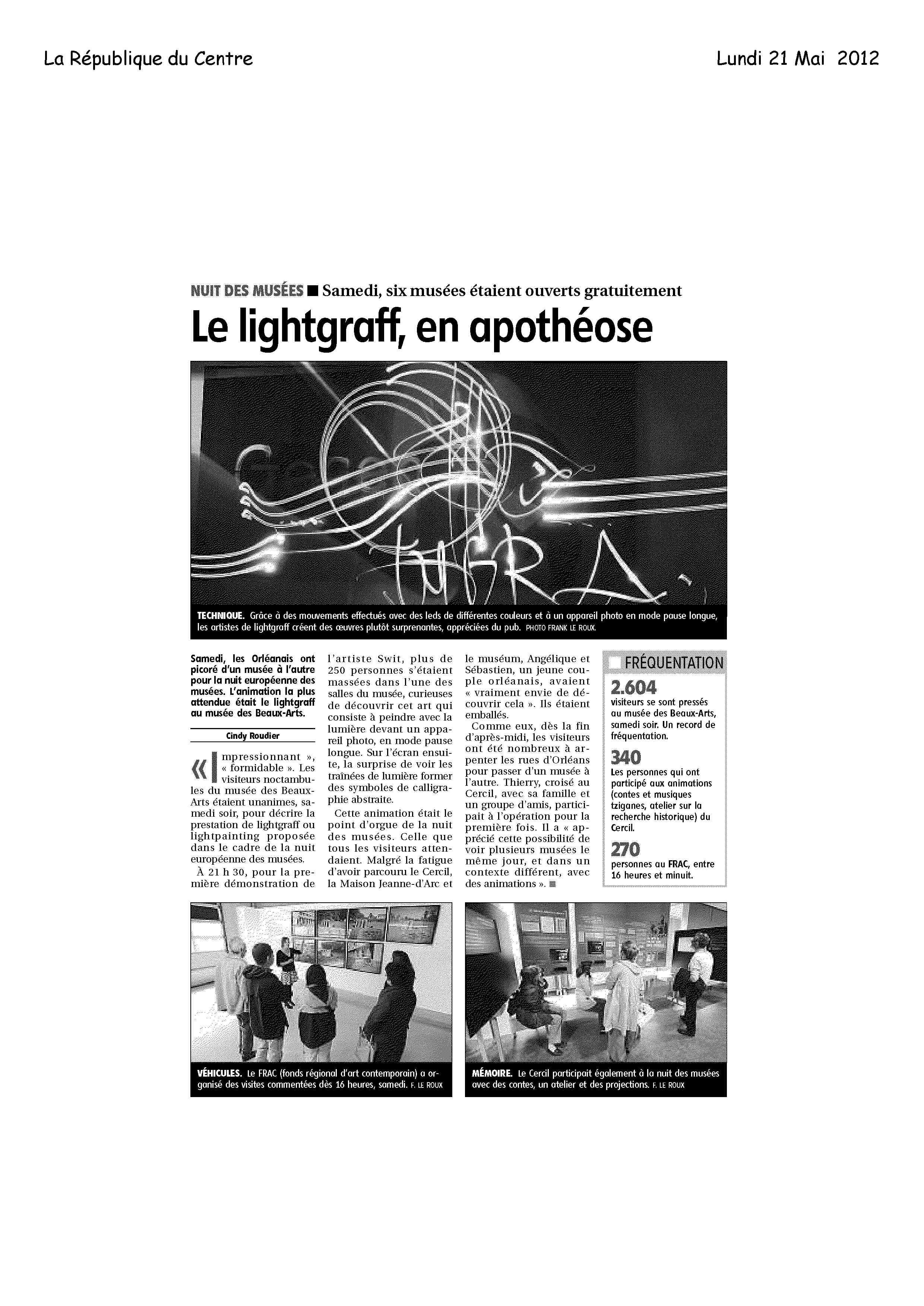 Article Nuit des Musées Orleans
