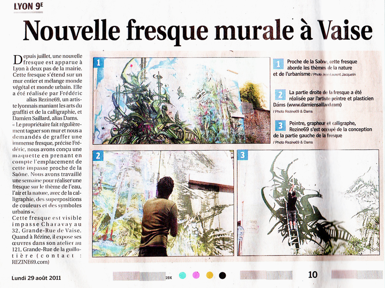 ARTICLE progres fresque charavay