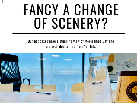 Bored of the same old everything? Hot-desk with Morecambe Hire
