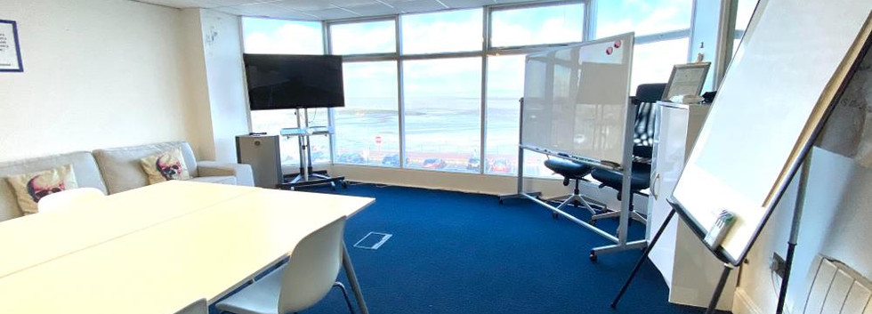 ad hoc, meeting room, morecambe, desk hire, free space, hot desk, home working, self-employed, office, office space, lancashire, conference roombe Room with view.jpg