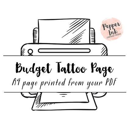 Budget Tattoo Page