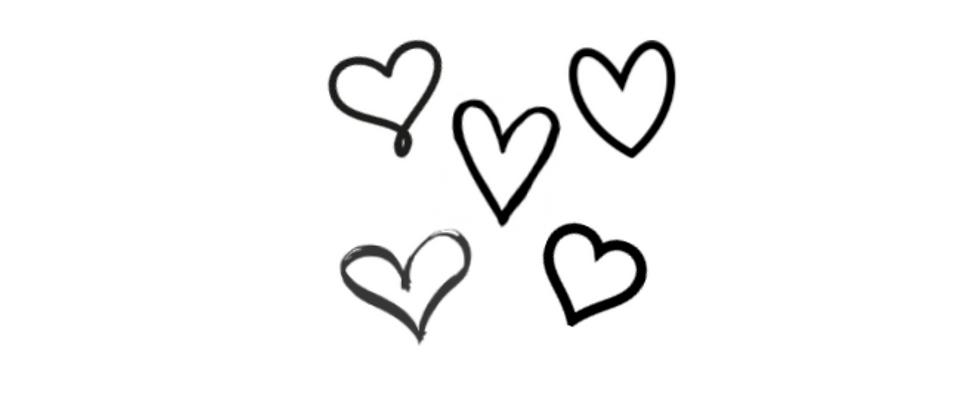 Tiny hearts temporary tattoos