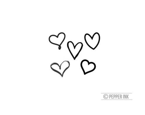 40be8a3c4 tiny hearts- mixed pack of tiny temporary tattoos