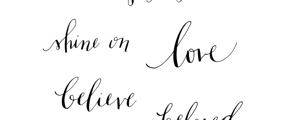 inspirational text mix-select your own-calligraphy