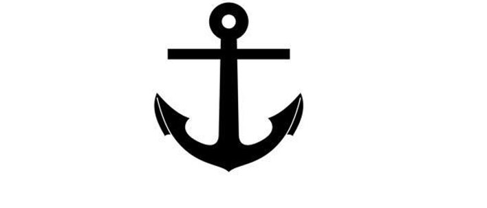 Classic anchor temporary tattoo