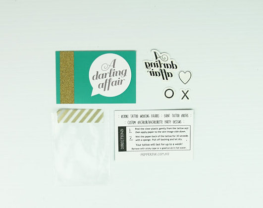 DIY custom temporary tattoo and packaging favors