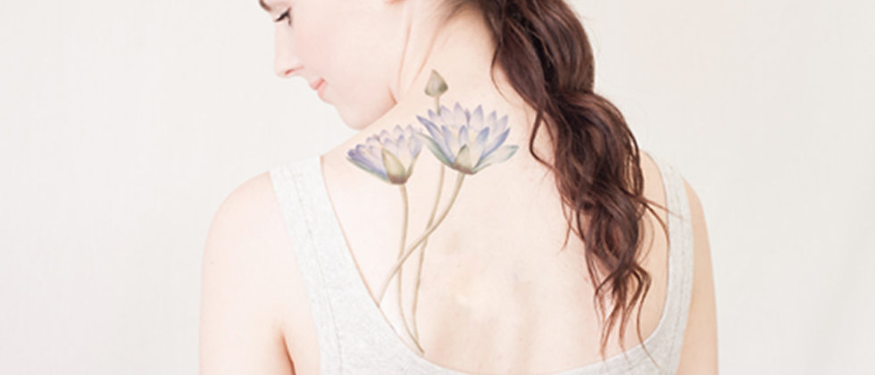 Large Waterlily Temporary Tattoo