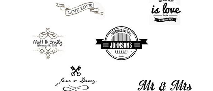 custom event typography temporary tattoos