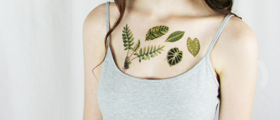 Vintage Botanical Temporary Tattoo Collection