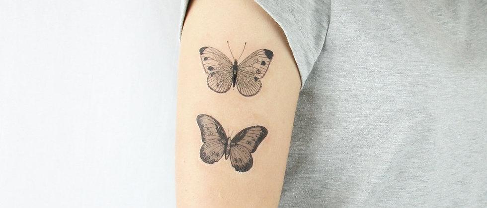 Vintage butterflies  temporary tattoos
