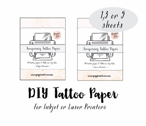 DIY temporary tattoo paper- inkjet printer