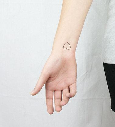 5 Small Hearts Temporary Tattoos